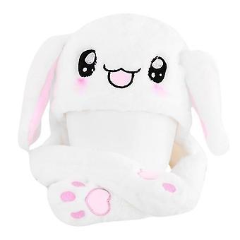 Chapeau magique de lapin de nouveauté avec le jouet mobile de peluche d'oreille