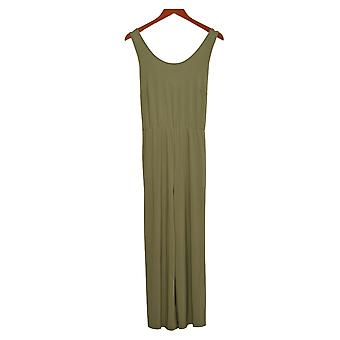 Brittany Humble Jumpsuit Tie-Front Green One-Piece 754099