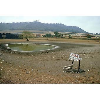 JLM-4728. Large Framed Photo. JLM-4728 <br>DROUGHT - dried pond <br>1976 Summer drought,.