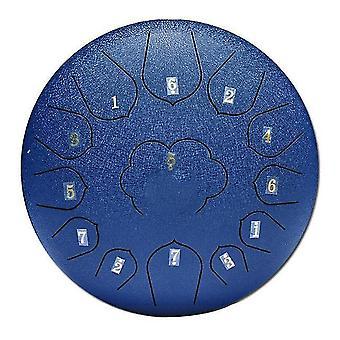 Nouveau 12 pouces mini tambour 13 tons steel tongue drum kit tune c empty spirit drum percussion hand pan