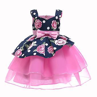 Robe de fleur de rose pour robe de tutu de filles