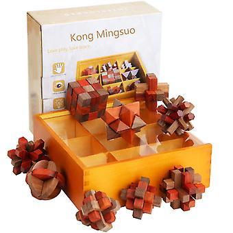 Cube Puzzle Jucărie, Kongming Lock pentru adolescenti si adulti, Brain Teasers