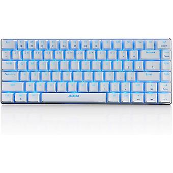 Qwert Ak33 Mechanisch Toetsenbord 82-toetsen Anti-ghosting Gaming Keyboard Blauw/zwart