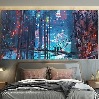 Cyberpunk Stil Wonderland Tapestry, vegg Hengende Klut-150x200cm