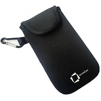 InventCase Neoprene Protective Pouch Case pour Samsung Galaxy J1 - Noir