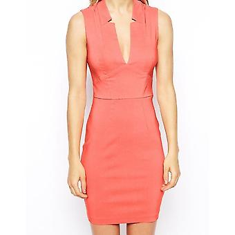 ASOS Sexy Mini Pencil Dress with Deep V Neck UK 14