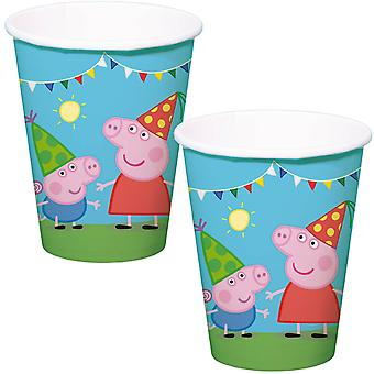 Peppa Wutz Cup 8 St. origineel verjaardag versiering Peppa Pig partij Cup