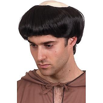Monk paryk halv skaldet monk paryk præst