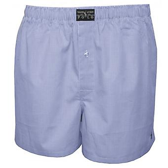 Polo Ralph Lauren Mini Gingham Woven Boxershorts, Hellblau
