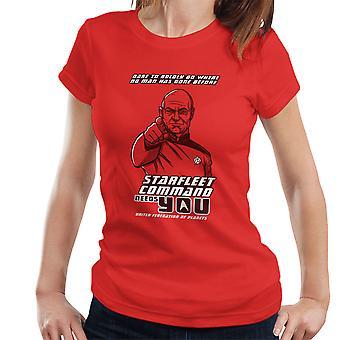 Starfleet Command Needs You Star Trek The Next Generation Women's T-Shirt