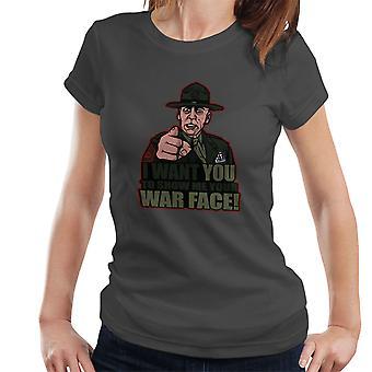 War Face Gunnery Sgt. Hartman Full Metal Jacket Women's T-Shirt