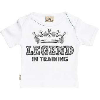 Spoilt Rotten Legend In Training Design Short Sleeve Baby T-Shirt