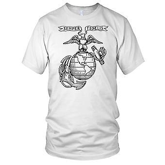 USMC Marines Logo Semper Fidelis Mens T Shirt