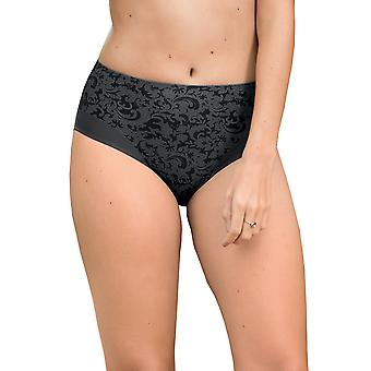 Ancona noche plata gris de Anita confort 1561-415 mujeres Floral completo Panty Highwaist breve