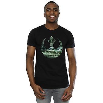 حرب النجوم الرجال & apos;ق روغ واحد I & apos;m واحد مع شعار تحالف القوة الأخضر تي شيرت