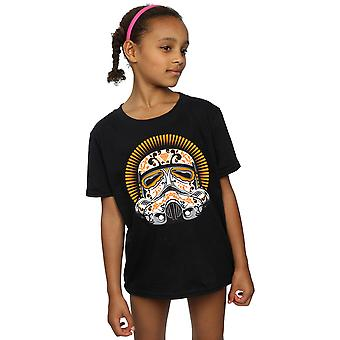Star Wars Girls Stormtrooper Dia De Los Muertos T-Shirt