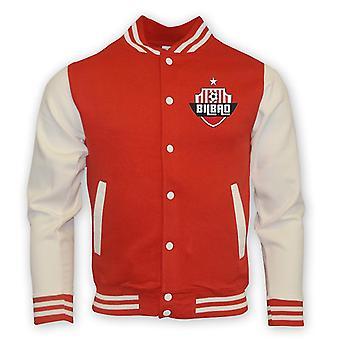 Athletic Bilbao Colegiul de baseball jacheta (rosu)-copii
