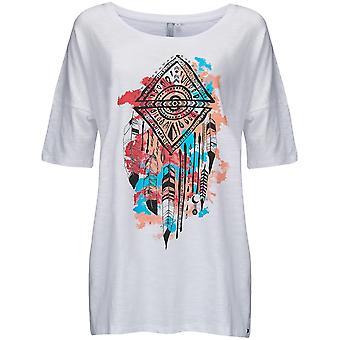 Animal strimlad kortärmad T-shirt i vitt