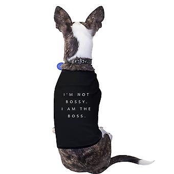 I'm the Boss Cotton Pet Shirt Black Small Dogs Clothes