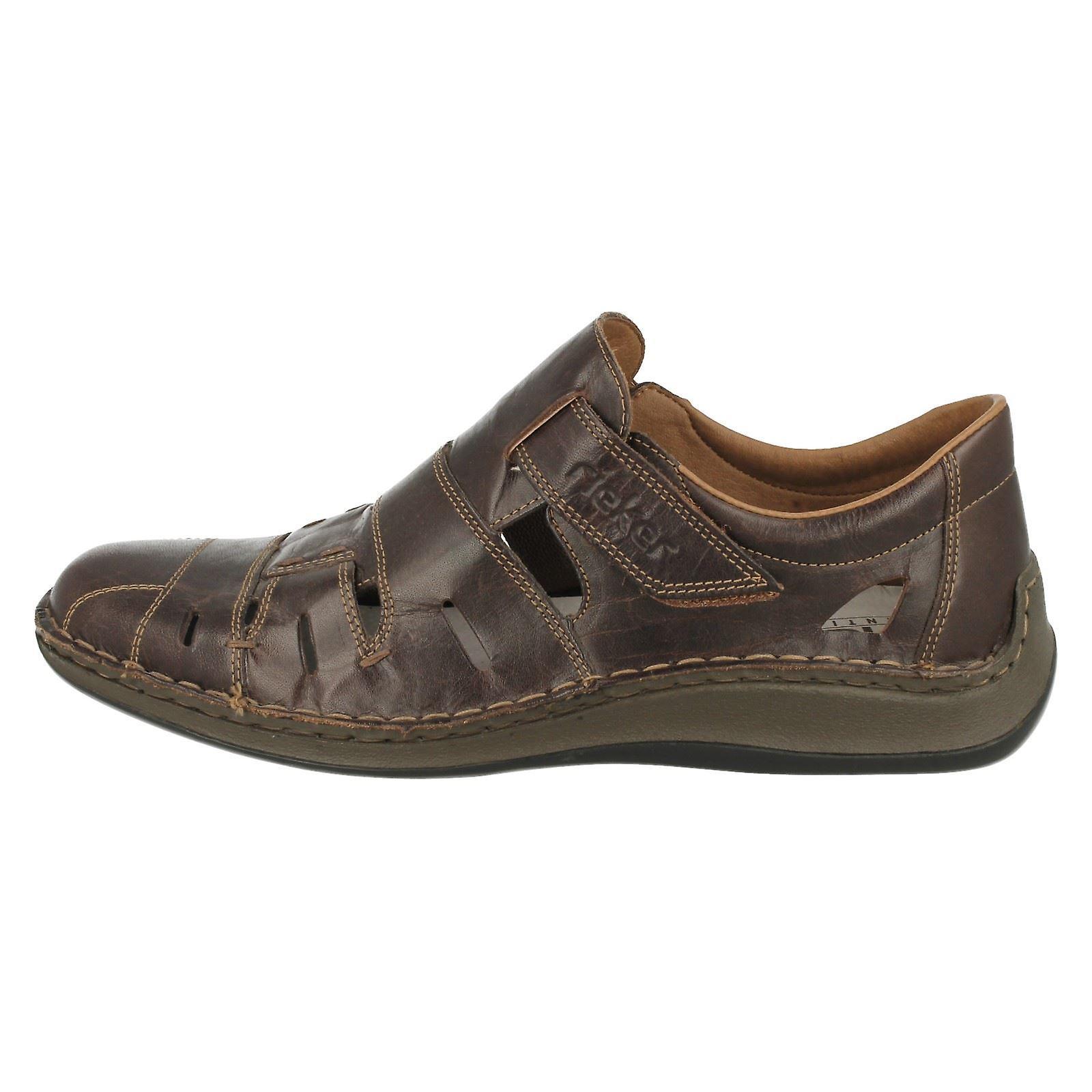 Mens Rieker Extra large fermé orteils sandales 05267 - Remise particulière