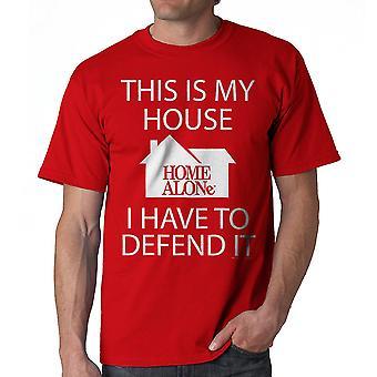 Page d'accueil seul ma maison que je dois défendre rouge T-shirt homme