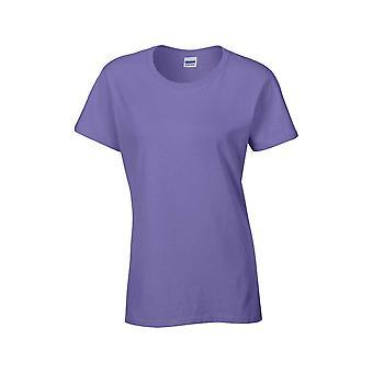 Gildan naisten raskas valmiiksi kutistettu pelipaita slub neulo puuvilla T-paita