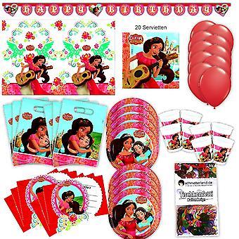 Elena Avalor Party Set XL 67-teilig für 6 Gäste Elenaparty Geburtstag Deko Partypaket