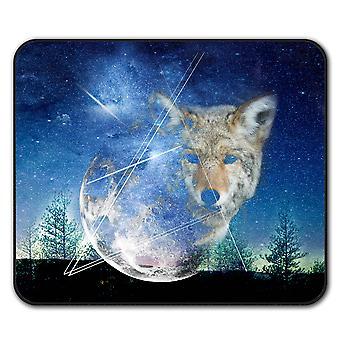 Wolf Moon bestia antypoślizgowe mysz mata podkładka 24 cm x 20 cm | Wellcoda