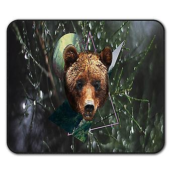 Bear Beast Moon Animal  Non-Slip Mouse Mat Pad 24cm x 20cm | Wellcoda