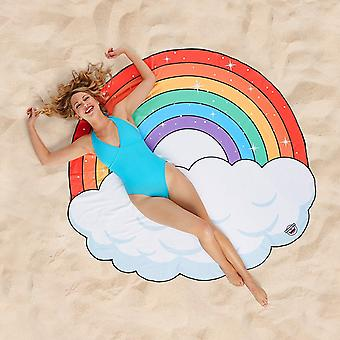 BigMouth Gigantic Rainbow Beach Blanket Outdoor Summer Water Picnic Pool