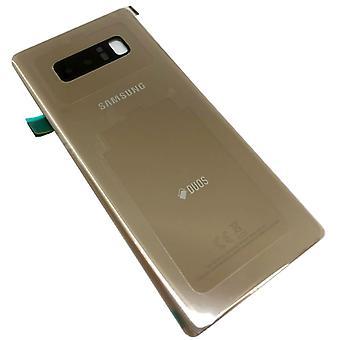כיסוי הסוללה סמסונג GH82-14985D עבור הערה גלקסי 8 DUOS N950F + משטח דביק זהב