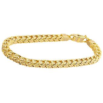 Premium Bling 925 sterling silver bracelet - FRANCO 5x5mm