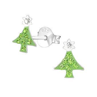 شجرة عيد الميلاد-ترصيع الإذن كريستال فضة 925-W37648x