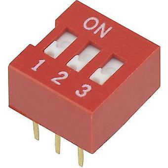 TRU COMPONENTS DSR-03 Interruttore DIP Numero di pin 3 Slide-type 1 pc(s)