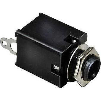BKL Electronic 1109030 6,35 mm audio-Buchse-Buchse, vertikal vertikale Anzahl der Pins: 2 Mono Silber 1 PC