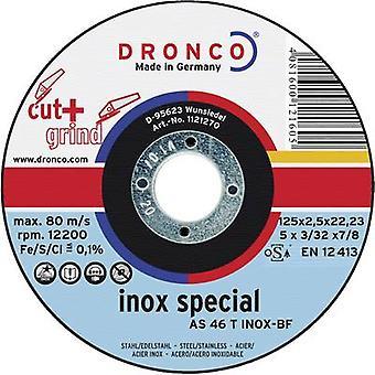 Corte y pulido de disco 125 mm 22,23 mm Dronco como 46 INOX 1123270-100 1 PC