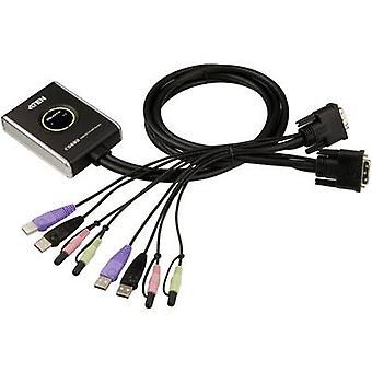 ATEN CS682-AT 2 منافذ KVM تبديل التبديل DVI USB 1920 × 1200 ص