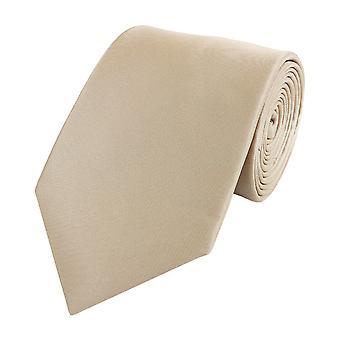 Knyta slips tie slips bred 8cm beige brons oformaterad Fabio Farini
