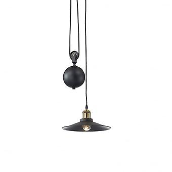 Ideal Lux Classic Rise And Fall Black Flared Pendant Light