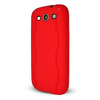 Technocel Textured Slider Skin Case Cover for Samsung Galaxy S3 (Red) - SAL710SSTRD-Z