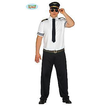 Sexy Piloten Kostüm für Herren Pilot Fasching Herrenkostüm Uniform Kapitän