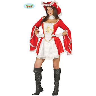 Sexy musketeer costume dress ladies Carnival middle ages