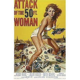 Angreb af 50 ft. Kvinde plakat teaser 102 x 68 cm