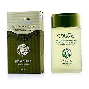 3W clínica Olive para homem - pele fresca - 150ml/5oz