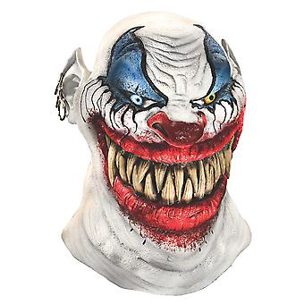 Chopper The Clown Horror Joker Sinister Creepy Mens Costume Overhead Latex Mask
