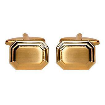 David Van Hagen Stepped Cufflinks - Gold