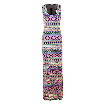 Nye damer Leopard Funky frugt udskrive Multi farve Maxi Bodycon kvinders kjole