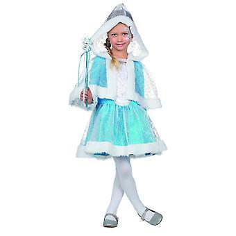Schneeprinzessin Kleid Kostüm Kinder Eisblau Prinzessin Karneval Märchen Mädchen
