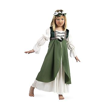 Medieval girl Hortensia damsel of the Castle maid child costume