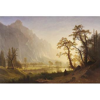Sunris,Yosemite Valley,Bierstadt Albert,60x40cm